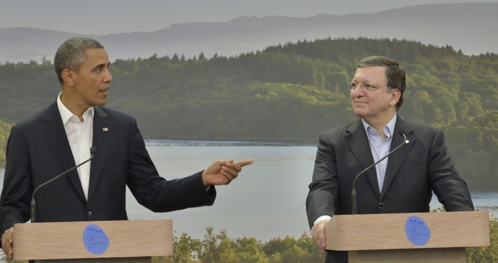 Obama e Barroso al summit del G8 in Irlanda del Nord nel giugno 2013