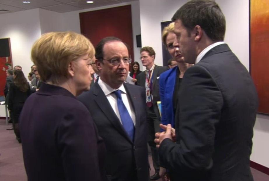 Merkel, Holande e Renzi