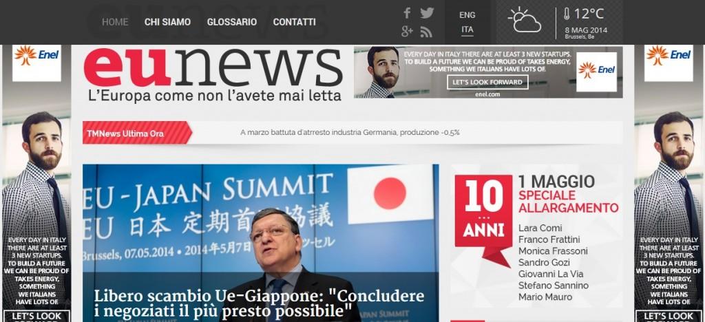 EuNews homepage
