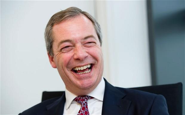 Farage felice