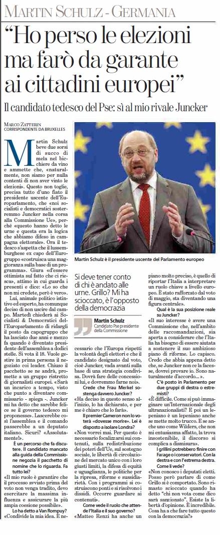 La Stampa Schulz