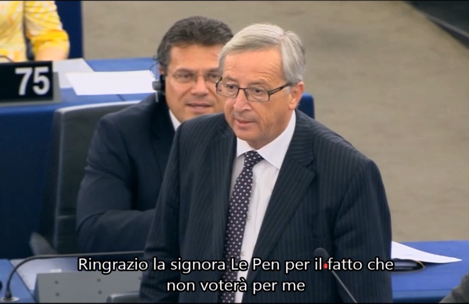 Juncker Le Pen Parlamento