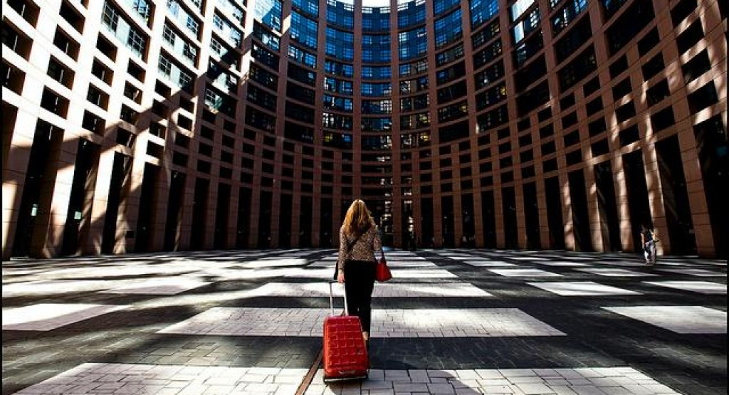 MEPs arrival Strasbourg