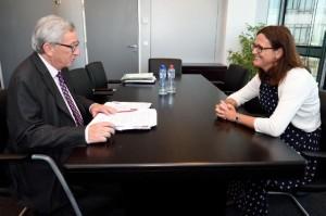 L'intervista di Juncker a Cecilia Malmstrom per la formazione della nuova Commissione