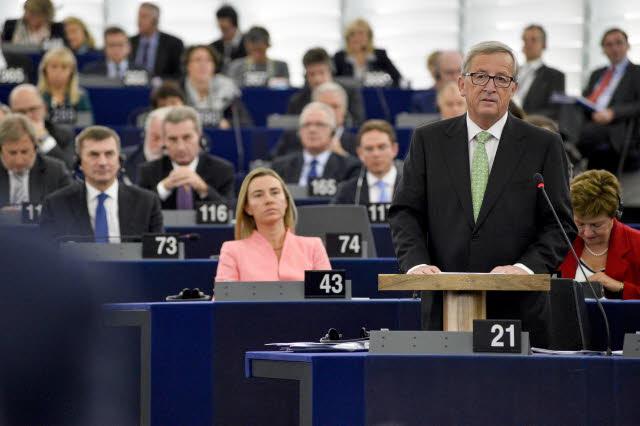 Juncker e i nuovi commissari al Parlamento europeo