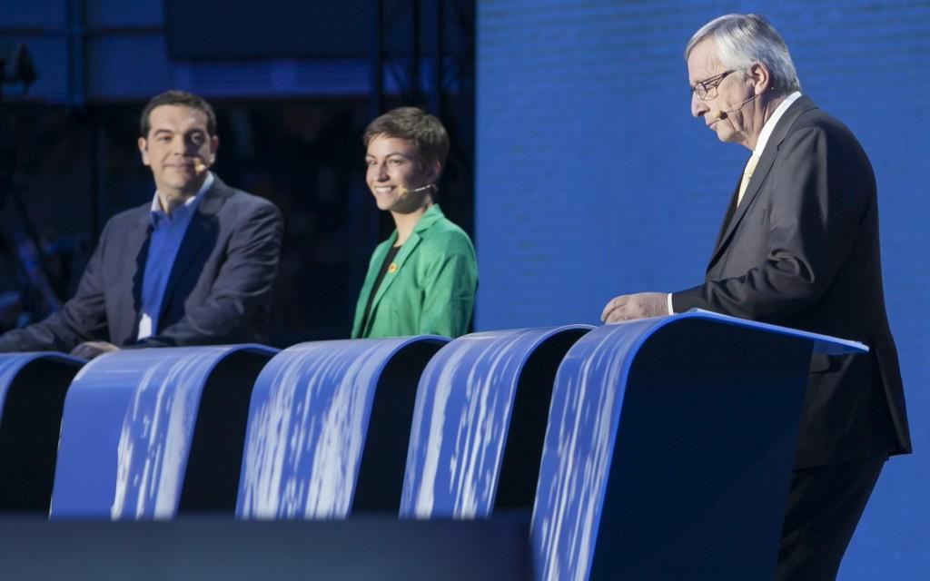 Tsipras e Juncker al dibattito televisivo delle scorse elezioni europee