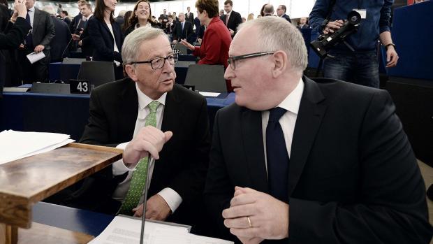 Juncker e Timmermans