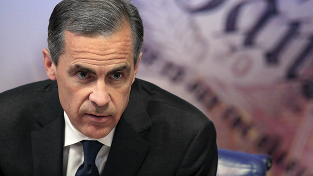 Il governatore dela Banca d'Inghilterra Mark Carney