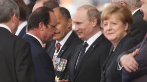 Putin Merkel Hollande
