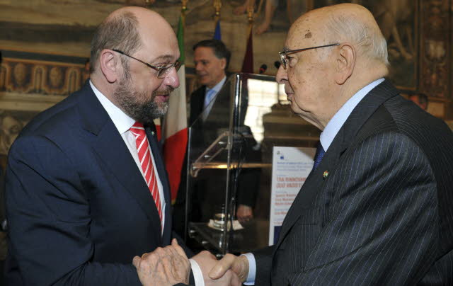 Schulz e Napolitano