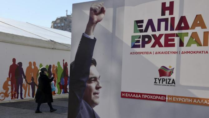 Manifesti elettorali di Syriza in Grecia