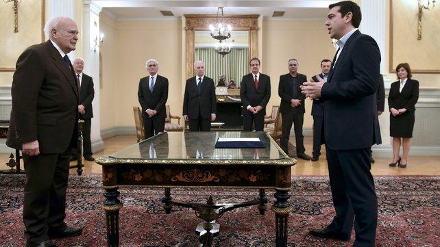 Tsipras Syriza giura