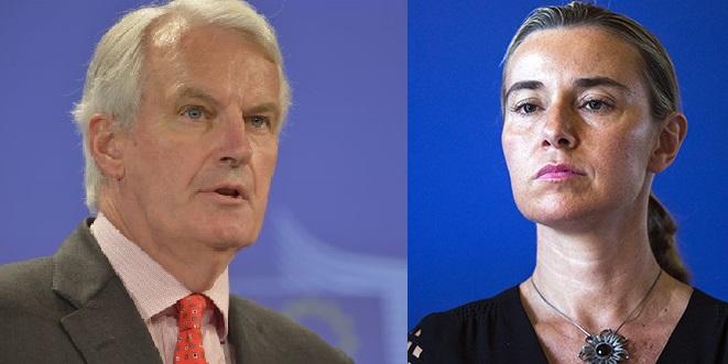 Mogherini Barnier