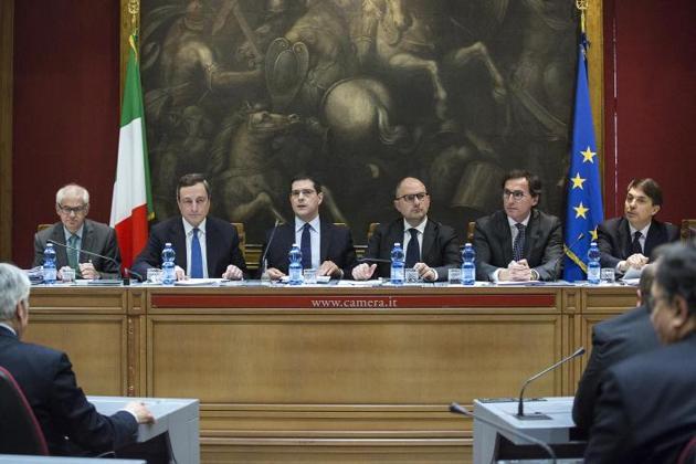Draghi in audizione alla Camera