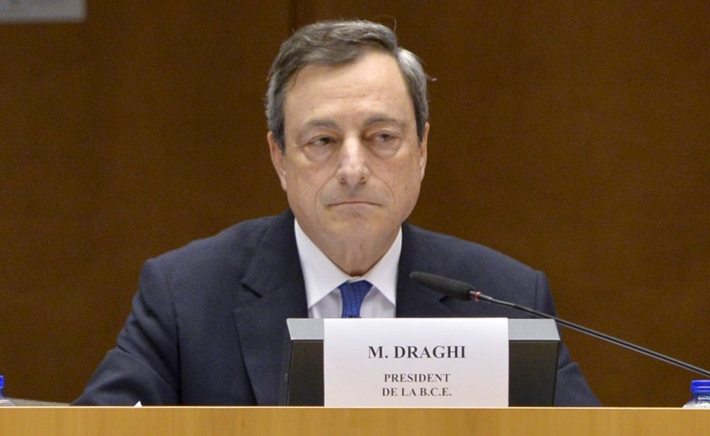 Draghi all'audizione - foto Parlamento europeo