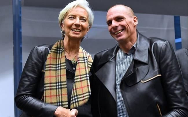 Lagarde e Varoufakis all'Eurogruppo di febbraio
