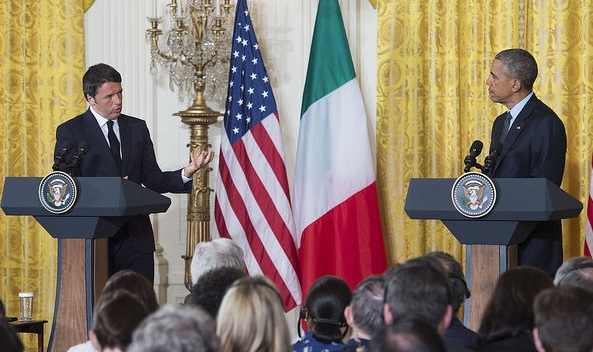 Renzi e Obama alla Casa Bianca - foto Palazzo Chigi