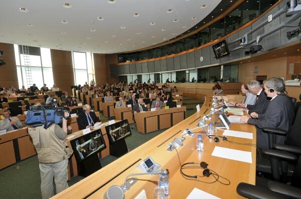Una sessione di lavoro della commissione Trasporti (archivio)