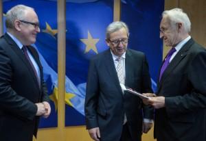 Frans Timmermans, Jean-Claude Juncker ed Edmund Stoiber