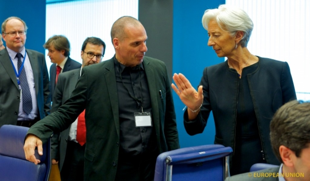 Yanis Varoufakis e Cristine Lagarde