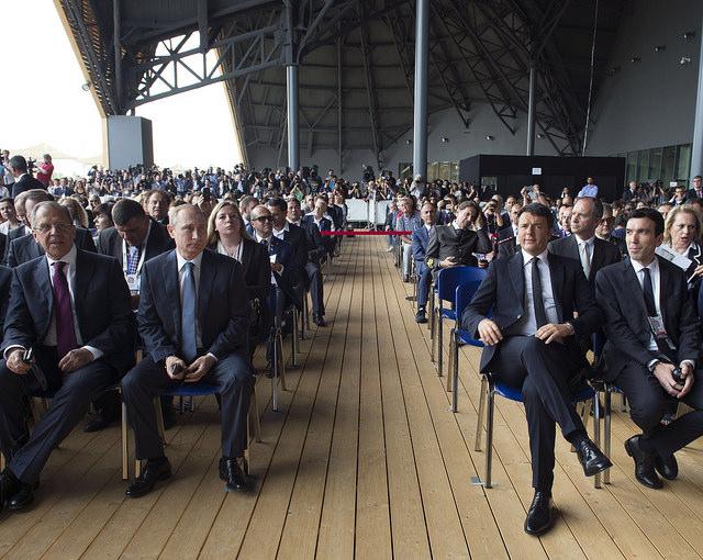 Renzi e Putin all'Expo 2015 di Milano (Fonte: Palazzo Chigi)