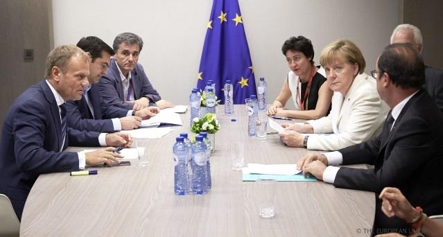 Tsipras Tusk Merkel Hollande