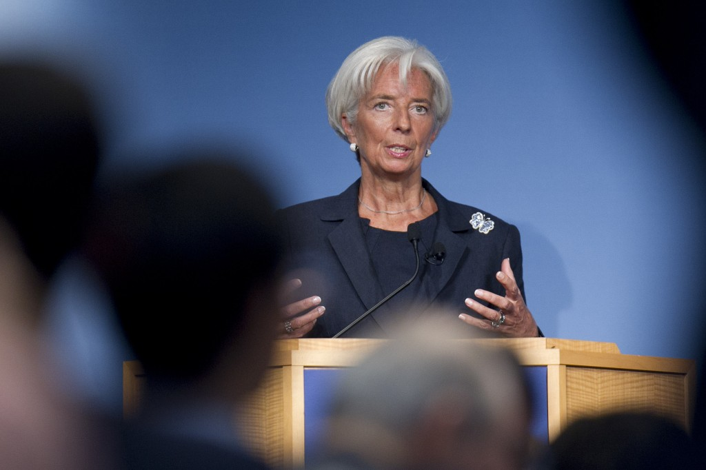 IMF Managing Director Christine Lagarde Speaks At Peterson Institute