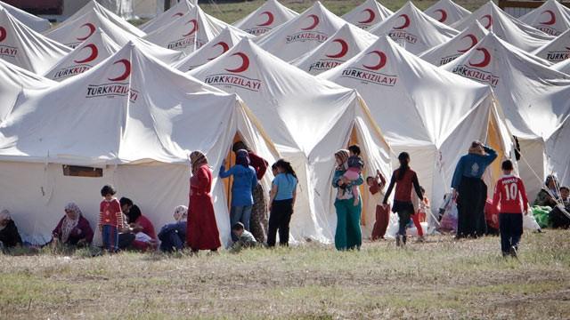 Un campo profughi in Turchia