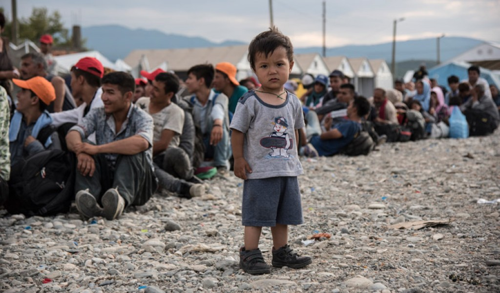 Bambino rifugiato