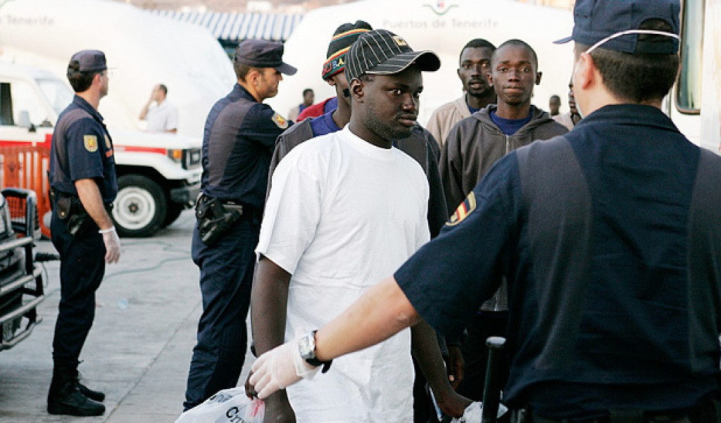 Migranti polizia