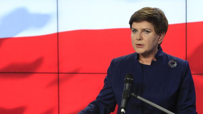 Beata Szydlo polonia, bandiera ue