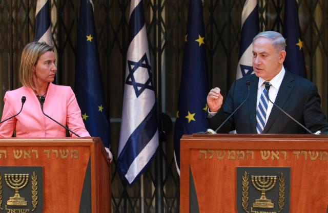 Mogherini Netanyahu Israele