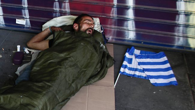 homeless Grecia