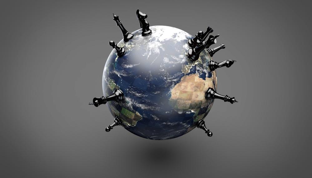 Globe - Pions noir