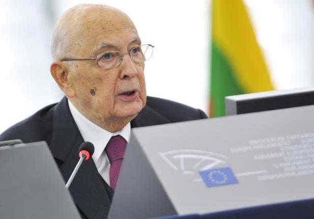Giorgio Napolitano al Parlamento europeo - © European Union 2014 EP