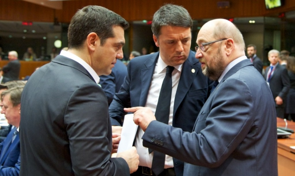 Tsipras Renzi Schulz