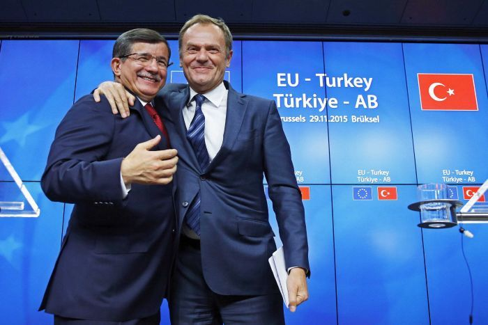 Ue Turchia Davutoglu Tusk
