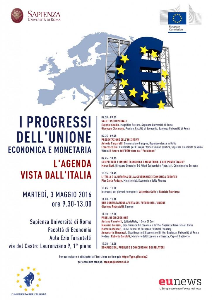 Uem, Unione economica e monetaria, Pier Carlo Padoan, Marco Buti, Commissione europea, Università La Sapienza