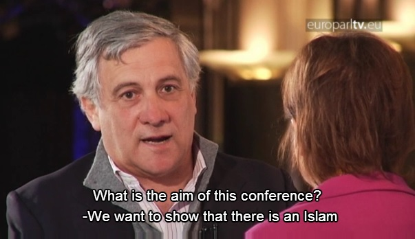 Antonio Tajani, dialogo interreligioso, islam