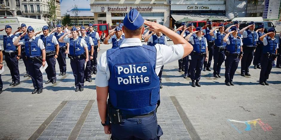 polizia belga, poliziotti, bruxelles