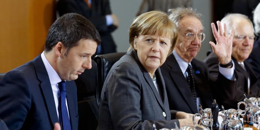 Renzi, Merkel, Germania, Italia, guida, Europa