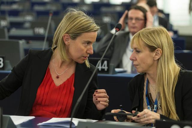 Federica Mogherini e Fabrizia Panzetti