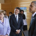 Angela Merkel, Matteo Renzi e Barack Obama (Foto: Barchielli, Palazzo Chigi)
