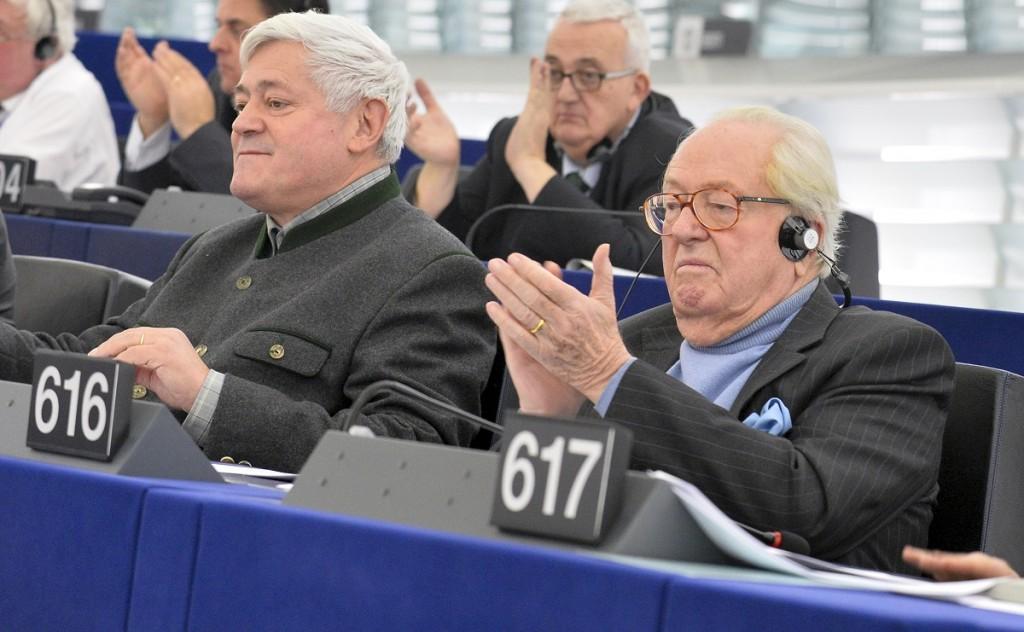 Bruno Gollnisch e Jean-Marie Le Pen