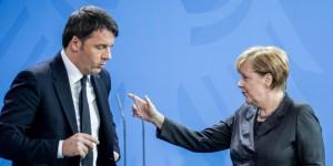 Renzi Merkel banche