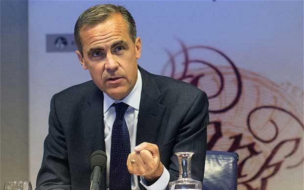 Mark Carney, Banca d'Inghilterra, Regno Unito,