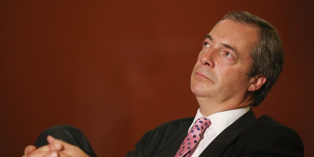 "Nigel Farage, leader Ukip. Antieuropeista sostiene il fronte ""leave"" nel referendum su Brexit"