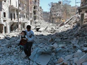 Aleppo dopo i bombardamenti