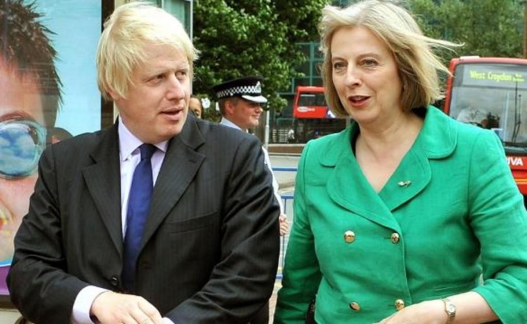 Boris Johnson e Theresa May