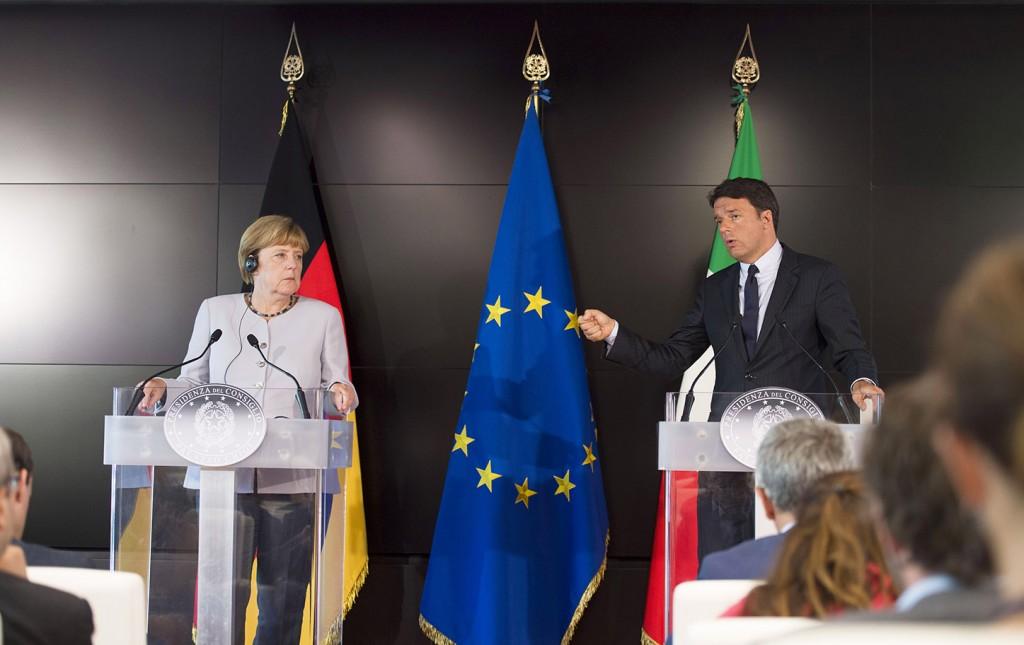 Angela Merkel e Matteo Renzi (Foto: Barchielli, Palazzo Chigi)